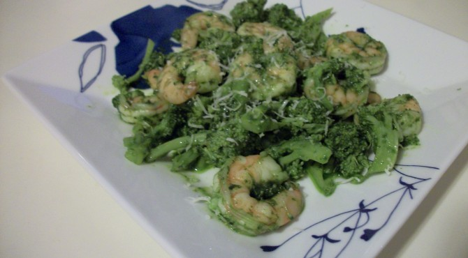 pesto shrimp
