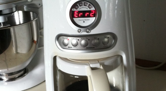 coffee pot err2