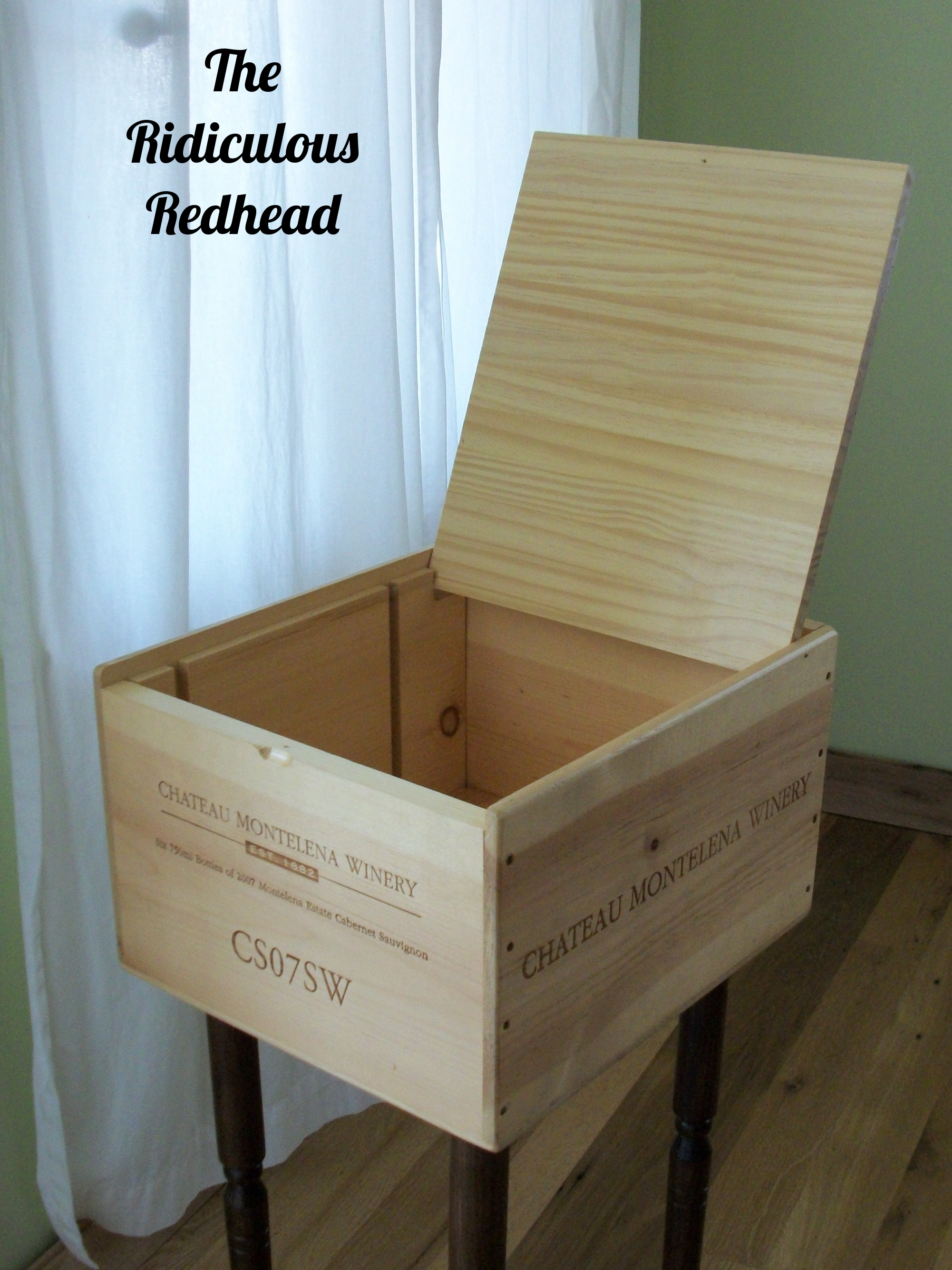 Reclaimed Wine Crate Table