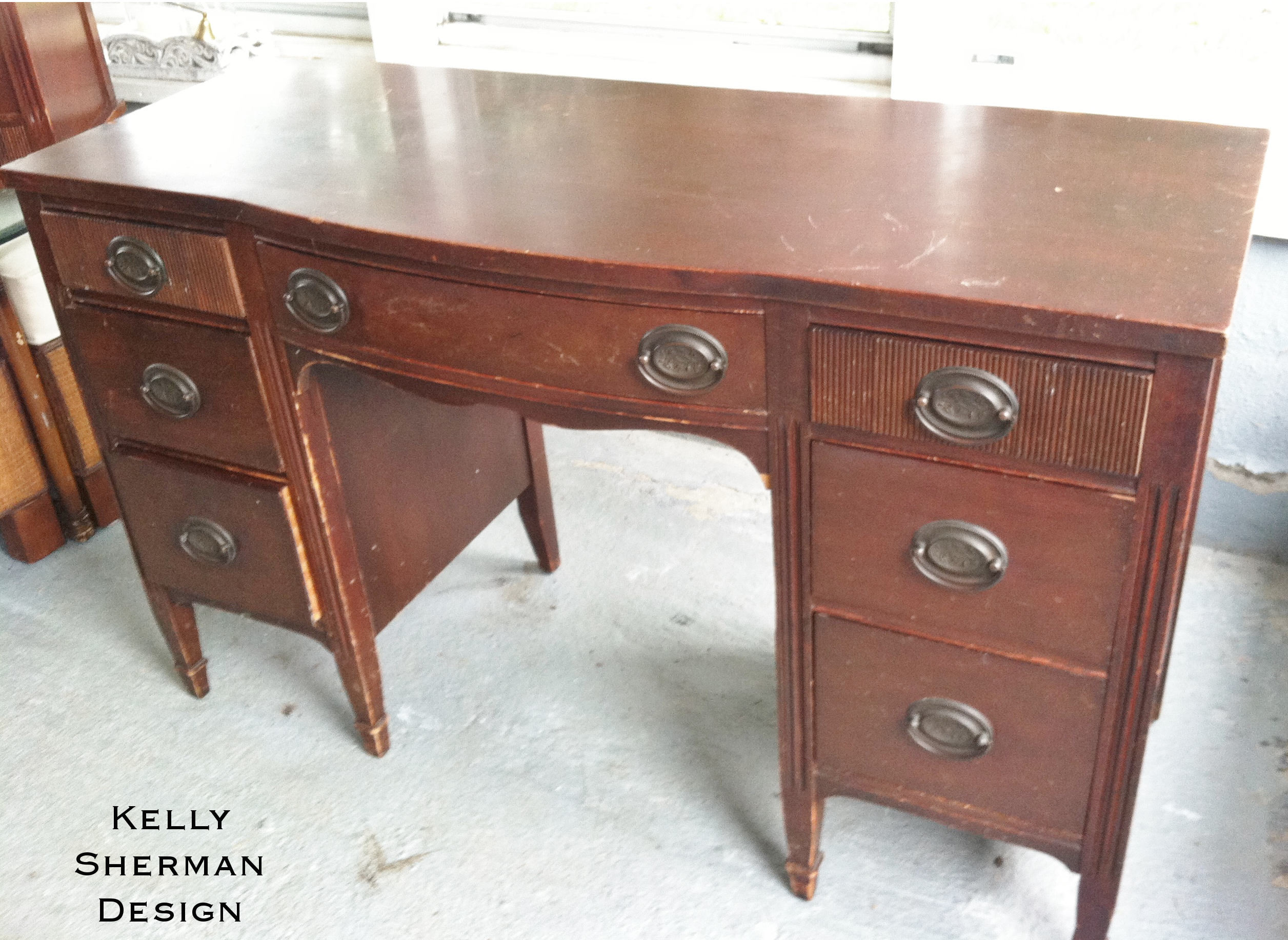 Antique Bedroom Set Makeover