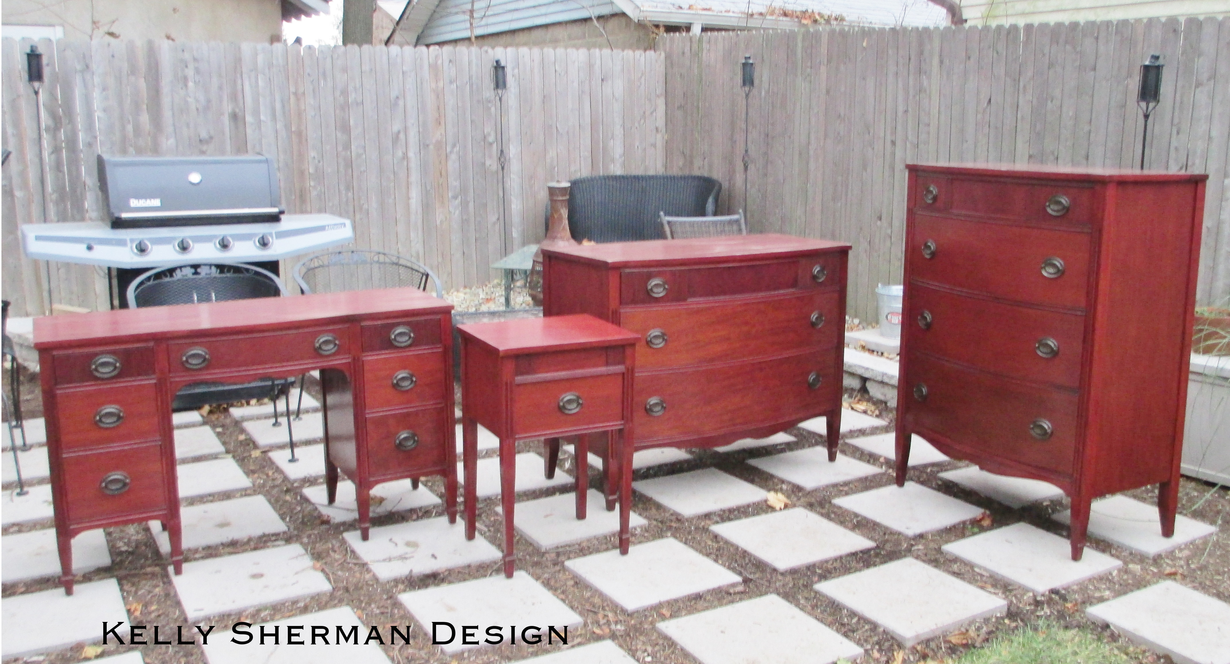 Antique Bedroom Set Makeover The Ridiculous Redhead