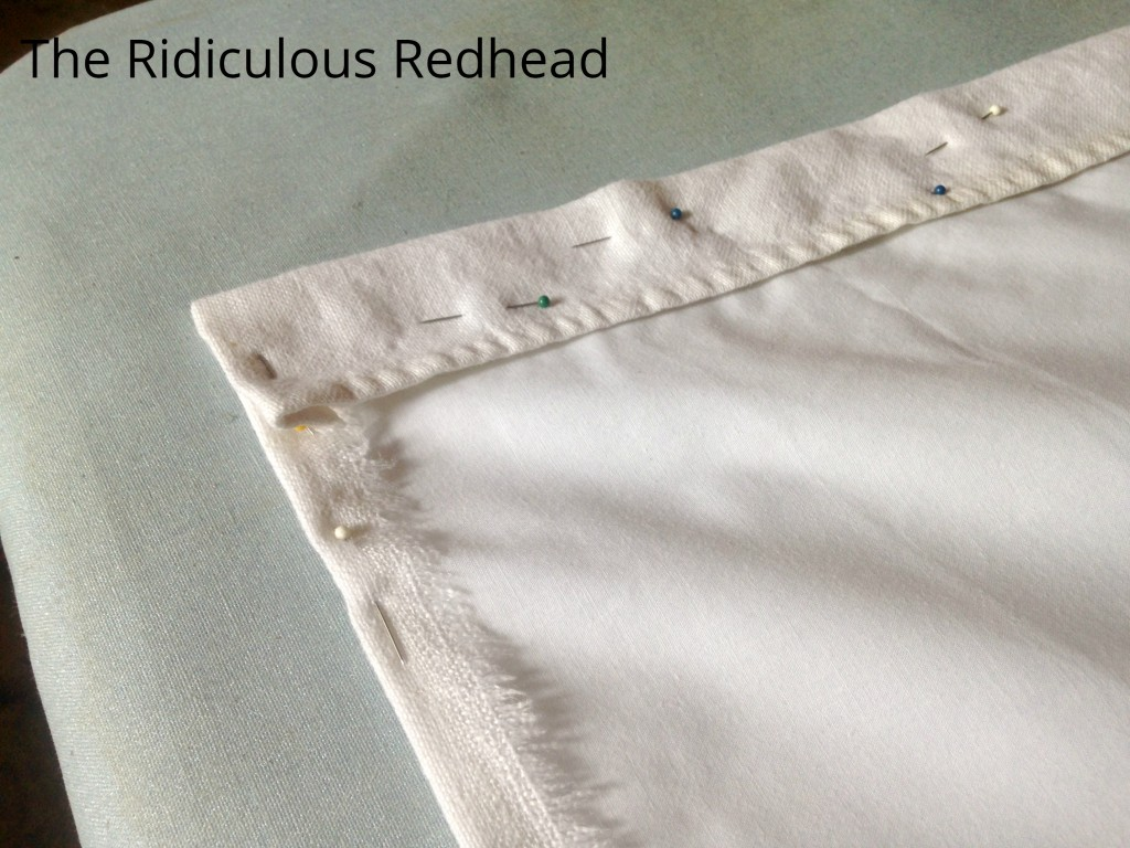 Ridiculous Redhead Tablecloth Apron seams
