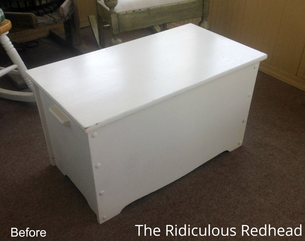 Ridiculous Redhead Toy Chest Before