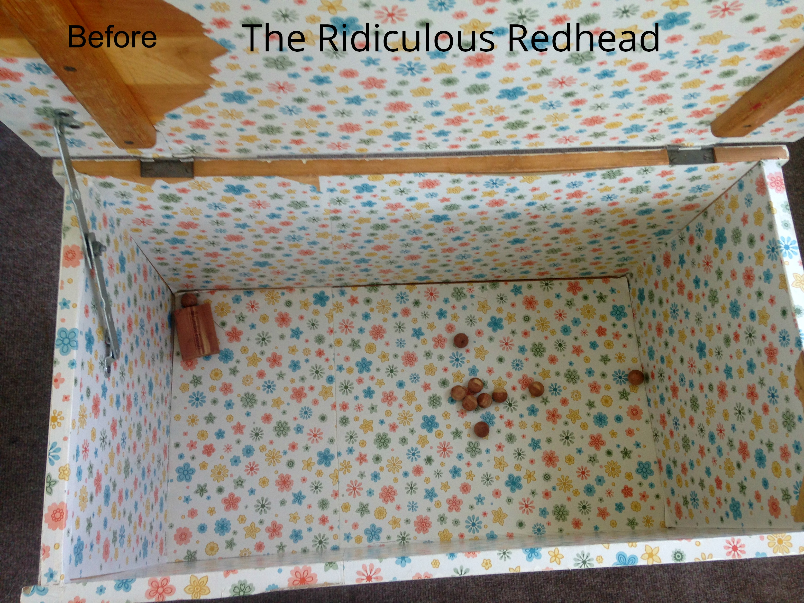 Ridiculous Redhead Toy Chest Inside Before