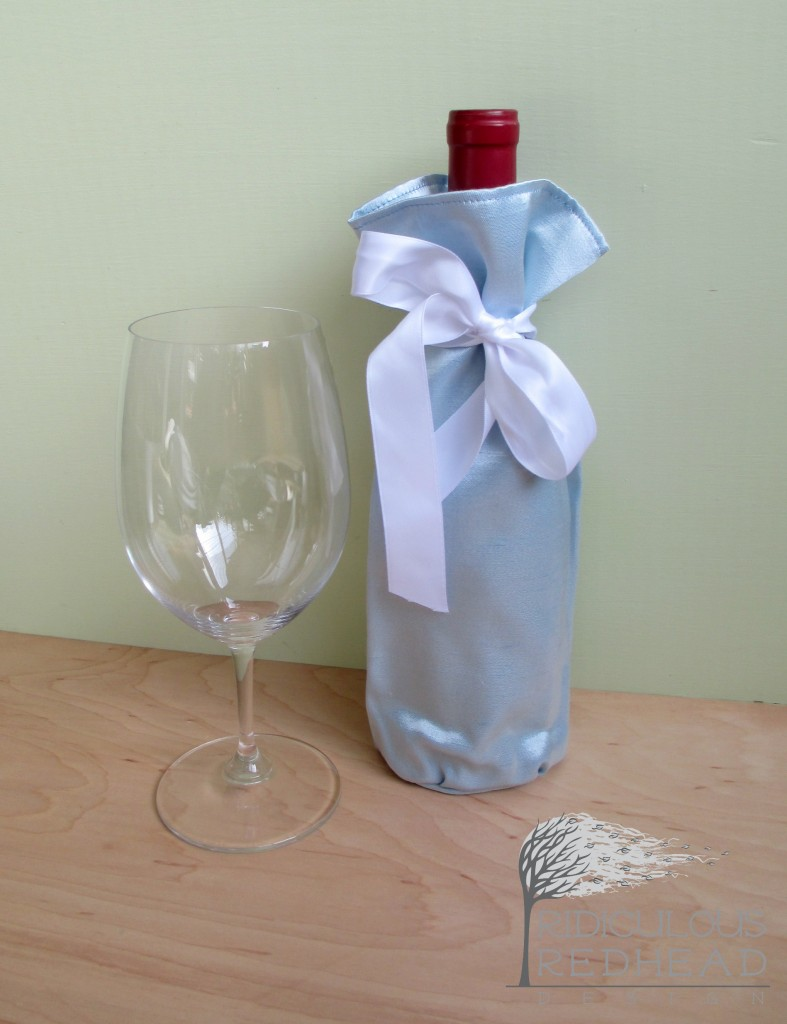 wine gift bag ice blue ridiculous redhead