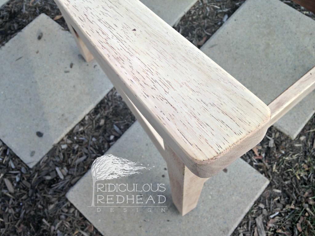 Ridiculous Redhead Habitat Chair Sanded