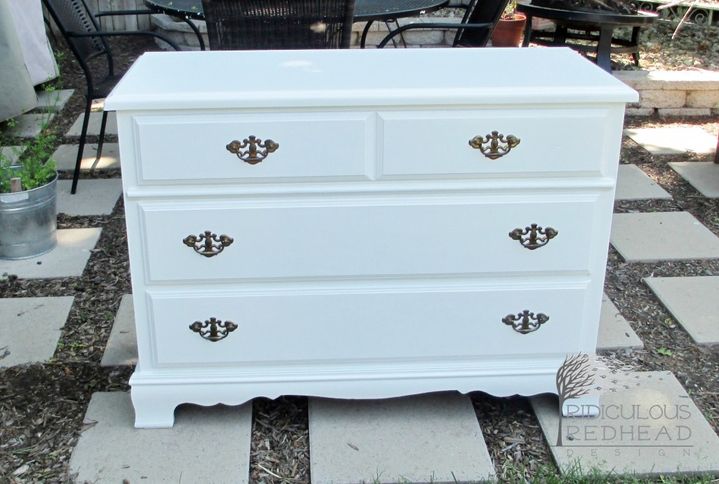 Ridiculous Redhead Pineapple Dresser After