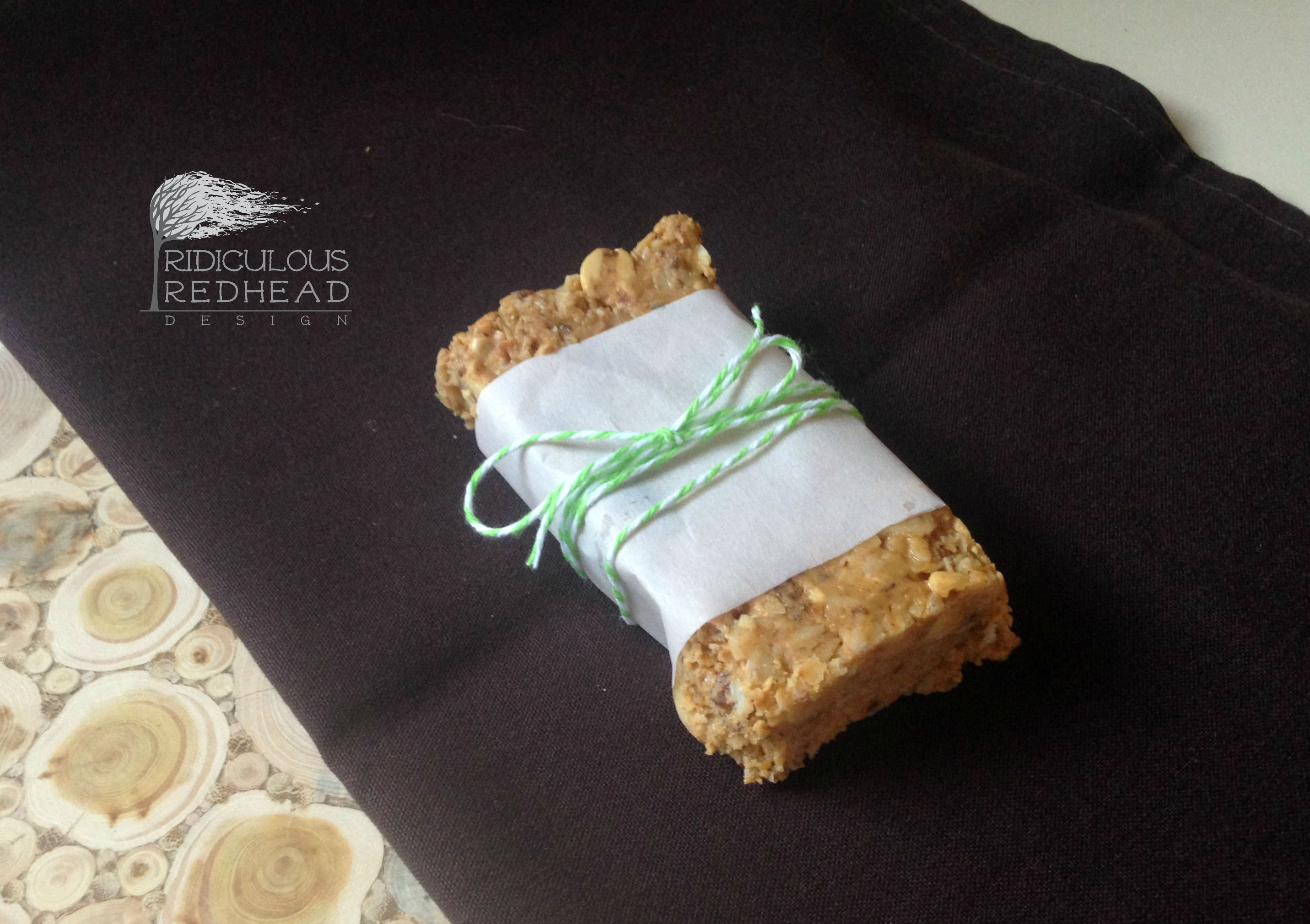 Ridiculous Redhead DIY Clif bars wrap